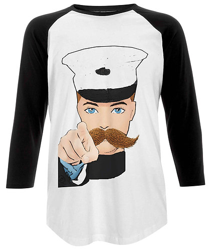 Hey You, Iconic Wartime Poster Baseball Shirt
