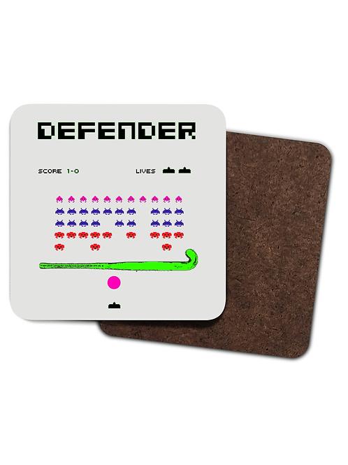 4 x Defender Field Hockey! Funny Field Hockey Drinks Coasters