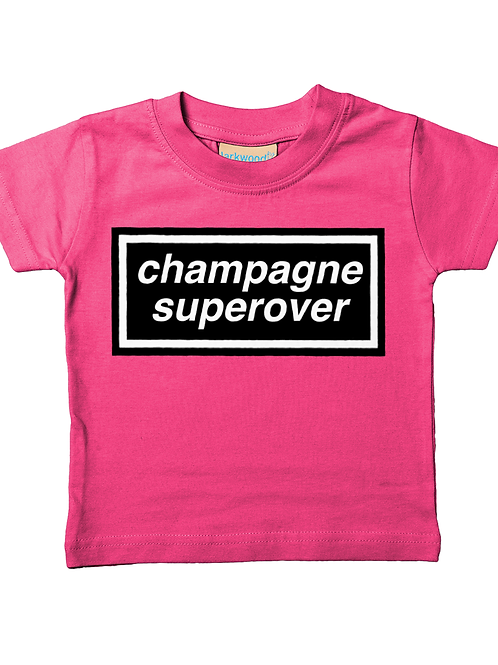 Champagne Super Over! Cool, Funny, Babies Cricket T-Shirt