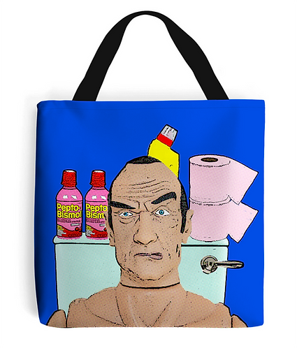 Pepto! Toilet Humour Tote Bag