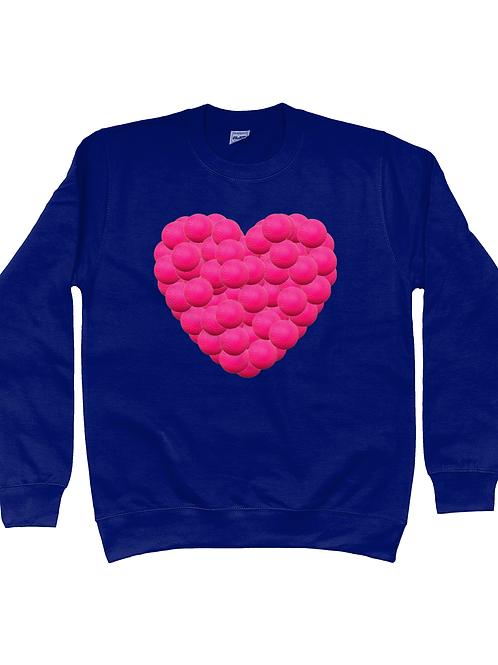 Hockey Ball Heart Kid's Field Hockey Sweatshirt