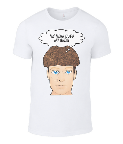 My Mum Cuts My Hair, Funny Men's T-Shirt