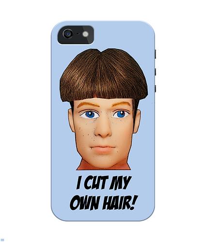I Cut My Own Hair iPhone Case