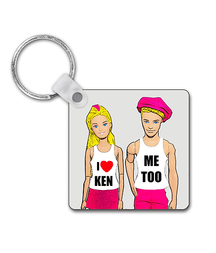 I Love Ken, Funny, Gay Keyring