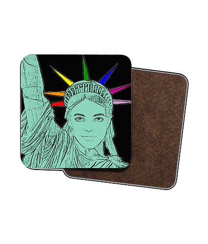 4 x Gay Drinks Coasters! The US of Gay!