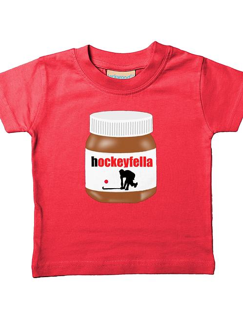 Hockey Fella! Funny, Babies Field Hockey T-Shirt