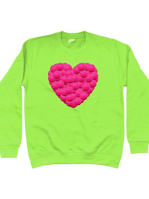 Hockey Ball Heart Field Hockey Sweatshirt