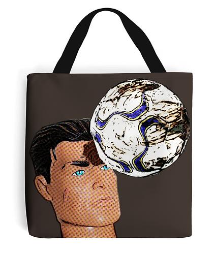 Football Header Tote Bag
