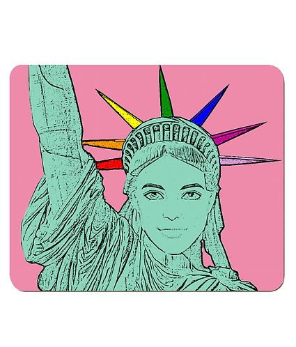 4 x The U.S. of Gay, Pop Art Statue of Liberty Place Mats