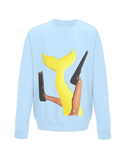 Getting Merlaid! (A Diver & A Mermaid), Funny Sweatshirt