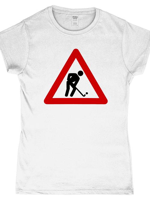 Hockey Player At Work! Funny, Ladies Field Hockey T-Shirt