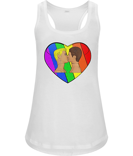 Love and Pride, Gay, Ladies Racerback Vest