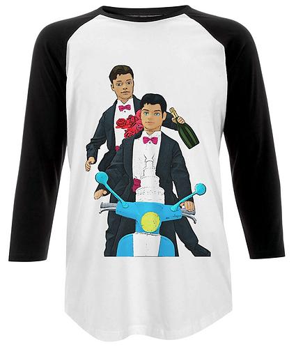 Just Married, Gay Baseball Shirt