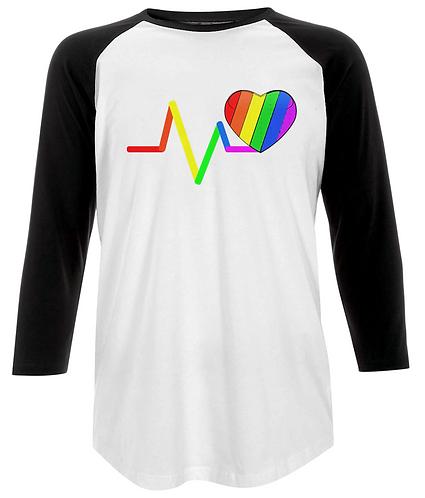 Rainbow Heart Baseball Shirt
