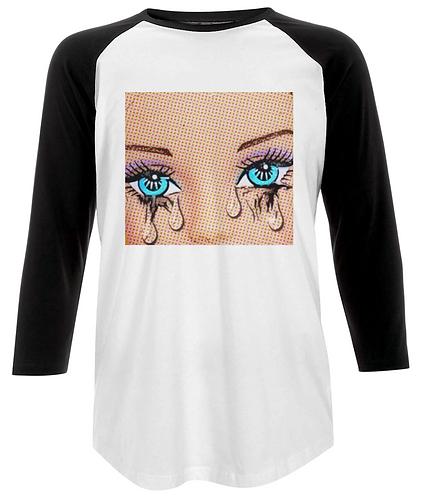 Tears Pop Art Baseball Shirt