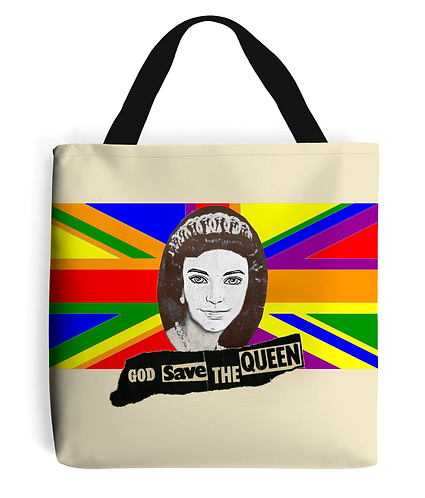 God Save The Queen (Ken) Funny, Gay, LGBT, Tote Bag