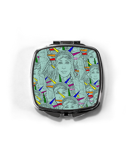 Gay Compact Mirror! Cher morphed into the Statue of Liberty!