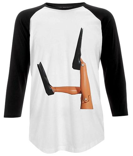 Scuba Diver Flippers! Funny Baseball Shirt