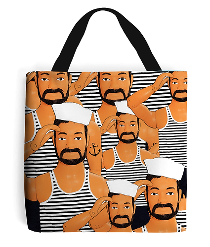 Hello Sailors, Funny, Gay, Tote Bag