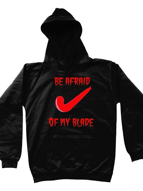 Be Afraid of My Blade! Kids Field Hockey Hoodie