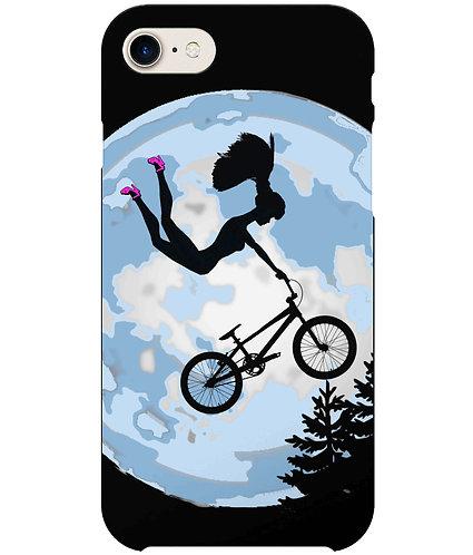 Doll Riding A BMX, ET Style i-Phone Case