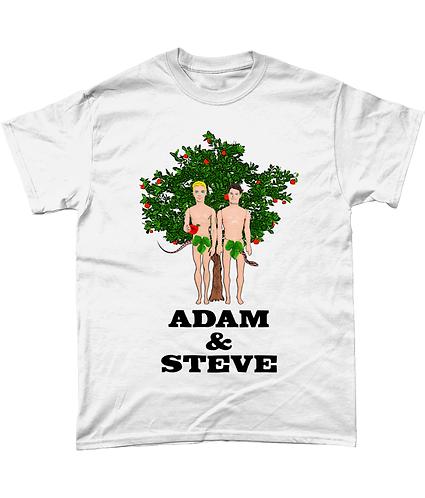 Adam & Steve, Funny, Gay Men's T-Shirt