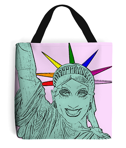 Bianca Del Rio as the Statue of Liberty! Funny, Gay, Tote Bag