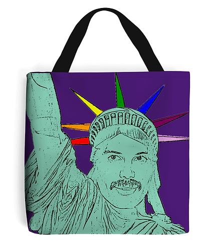 Freddie Mercurty as the Statue of Liberty! Funny, Gay, Tote Bag