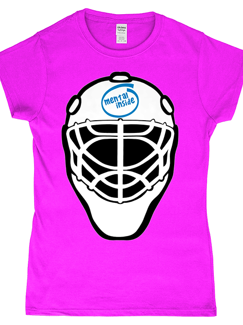 Mental Inside! Funny, Ladies Field Hockey Goalkeeper T-Shirt