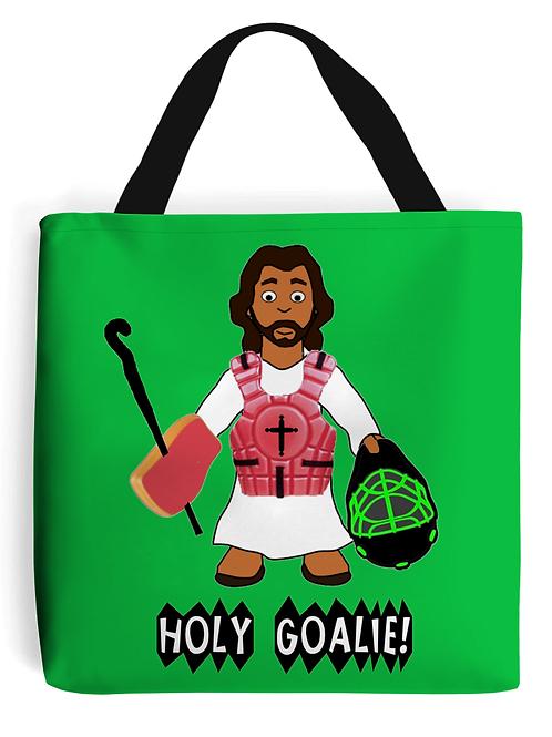 Holy Goalie, Field Hockey Tote Bag