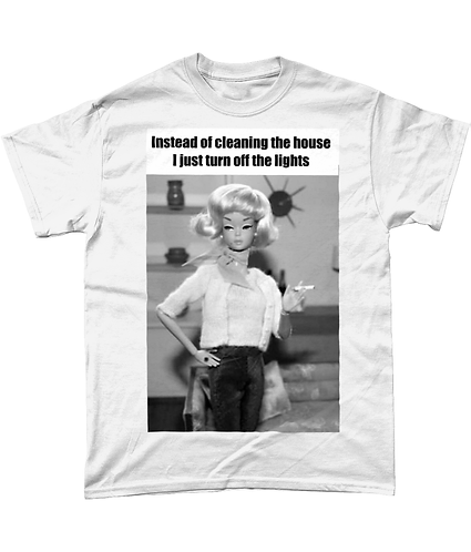 Instead of cleaning the house - I turn the lights off! Hilarious Meme T-Shirt!