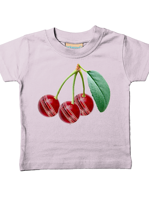 Cherries! Cool, Funny, Babies Cricket T-Shirt