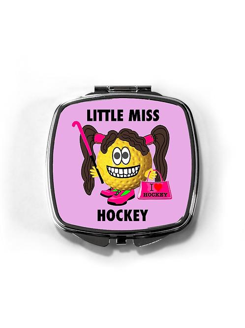 Little Miss Hockey Compact Mirror
