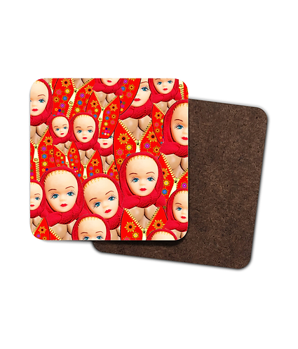 4 x Rude Russian Dolls, Funny Drinks Coasters!