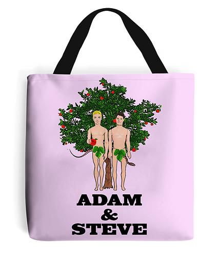 Adam & Steve Tote Bag