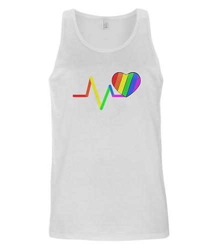 Pulse, Rainbow Loveheart, LGBT, Tank Top