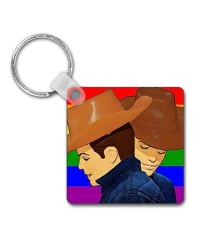 Brokeback Mountain Rainbow, Gay Interest Keyring