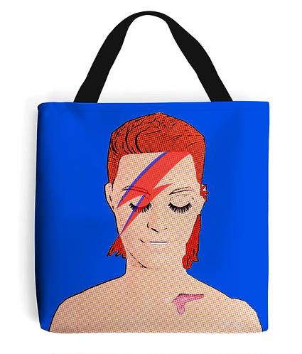 Davie Bowie Pop Art Tote Bag