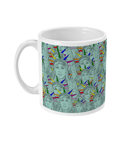 Gay Pop Art Mug! Cher morphed into The Statue of Liberty!