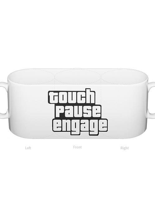 Touch Pause Engage Mug