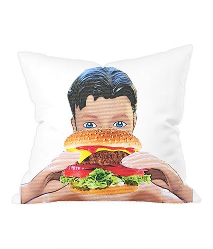 Burger Me Throw Cushion Cover