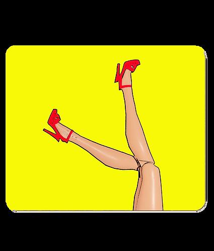 Great Legs & Red Stilettos! Funny, Pop Art Place Mats