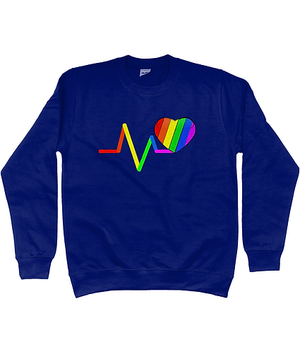 Rainbow Pulse Lovewins, Gay Sweatshirt