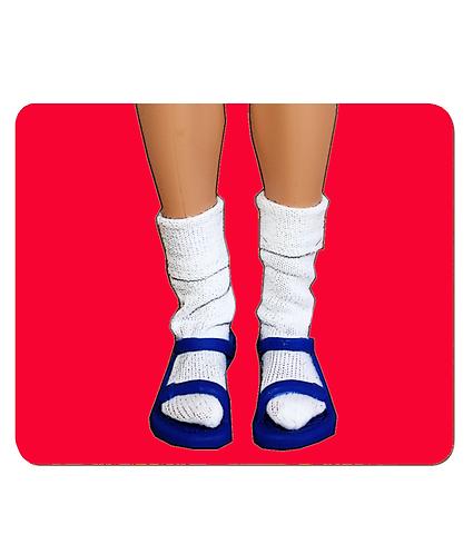 4 x Socks & Sandals! Funny, Pop Art, Place Mats