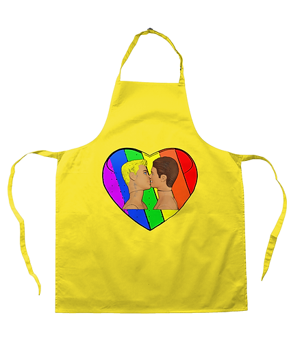 Rainbow Sweethearts! Gay Apron