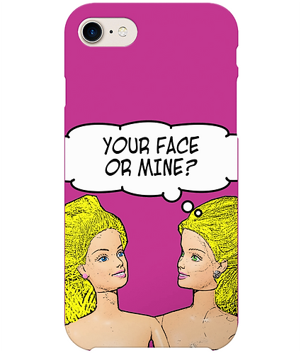 Your Face or Mine, Funny Lesbian i-Phone Case