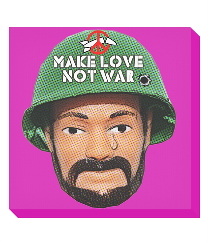 Make Love Not War Canvas