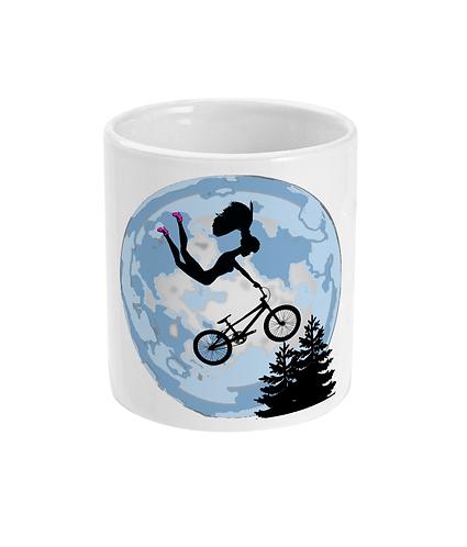 Doll Riding A BMX ET Style Mug