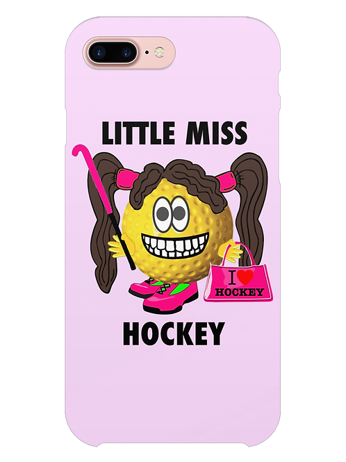 Little Miss Hockey i-phone case