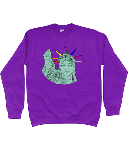 Madonna as The Statue of Liberty, Funny, Gay, Sweatshirt